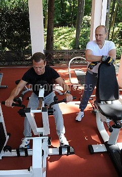 Meeting of President Vladimir Putin and Prime Minister Dmitry Medvedev in Sochi