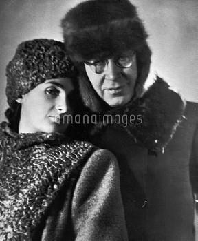 Prokofiev with wife