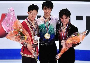 [フィギュアスケート] グランプリファイナル2016 マルセイユ 表彰式 羽生結弦 Yuzuru Hanyu ネイサン・チェン Nathan Chen 宇野昌磨 Shoma Uno