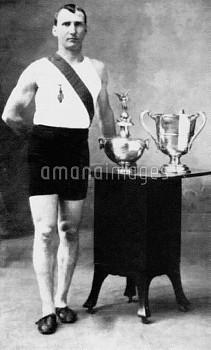 Thomas Hicks, USA, gold medallist in the marathon