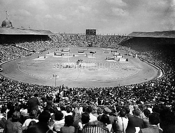 A general view of the Prix Des Nations which preceded the closing ceremony of the Olympic Games at W