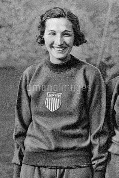 USA's Jean Shiley who won gold in the high jump. She later felt that the runner up had been hard don