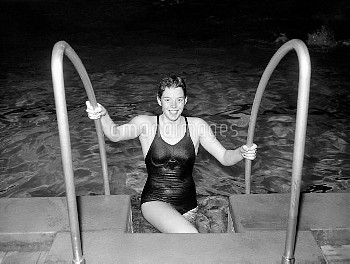 17 year old Judy Grinham, who has been chosen for the 100 metres backstroke at the Melbourne Olympic