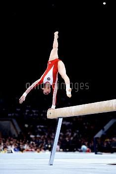 USSR's Natalya Shaposhnikova in action on the beam