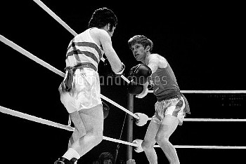 Light flyweight Ralph Evans, who won the bronze medal in the Munich Olympic Games.