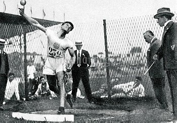 USA's Clarence Houser, the gold medallist, in action