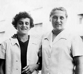 (L-R) Irina and Tamara Press, USSR