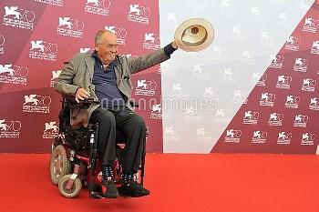 Director and jury president Bernardo Bertolucci attends the photocall of the Jury of the Venezia 70