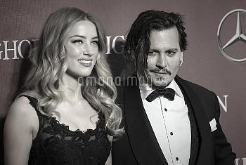 Amber Heard & Johnny Depp attending the 2016 Palm Springs International Film Fest Gala held at the P