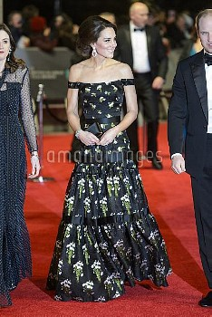 The Duchess of Cambridge attending the EE British Academy Film Awards held at the Royal Albert Hall,