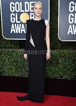 Saoirse Ronan at the 75th Annual Golden Globe Awards held at the Beverly Hilton Hotel on January 7,
