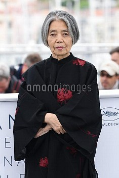 Kirin Kiki attending the photocall for Shoplifters at the Palais De Festival, part of the 71st Canne