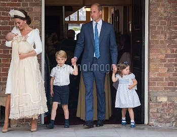 The Duke and Duchess of Cambridge with their children Prince George, Princess Charlotte and Prince L