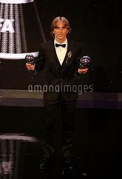 The Best FIFA Men's Player Award Winner Luke Modric on stage during the Best FIFA Football Awards 20