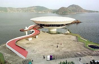 August 29, 2001, Niteroi, Brazil: Just days before his 100th birthday, Brazilian architect Oscar Nie
