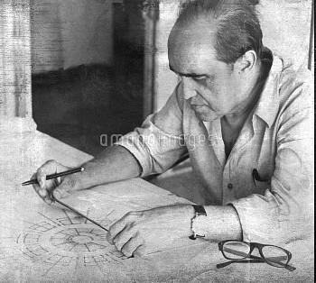 April 6, 1969, Sao Paulo, Brazil: Just days before his 100th birthday, Brazilian architect Oscar Nie