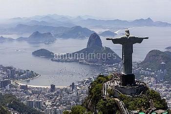 February 20, 2016- Rio de Janeiro, Brazil: Christ the Redeemer is a giant (98-ft.-tall) Art Deco sta