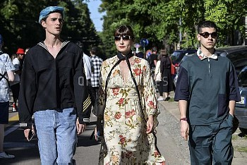 June 20, 2016 - Milan, Italy: Guests outside Fendi show during the Milan Men's Fashion Week Spring/S