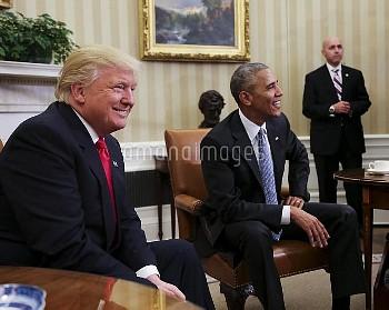 オバマ大統領とトランプ氏がホワイトハウスで初会談