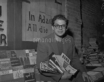 June 2, 1959 - San Francisco, California, United States: Beat poet Allen Ginsberg at the City Lights