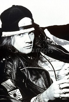 Portrait of Axl Rose from Guns n' Roses in the early 1990's.  © Ian Tilton / Retna/Photoshot Credit
