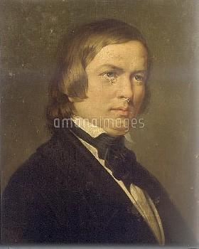 Robert Schumann (1810-1856), German composer. Naples, Music conservatory at San Pietro a Maiello.
