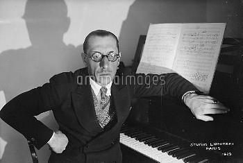 Igor Stravinski (1882-1971), Russian composer, naturalized French then American. Paris, June, 1929.