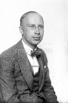 Serge Prokofiev (1891-1953), Russian pianist and composer. Paris, July 1924.