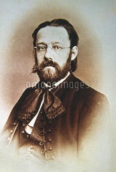 Bedrich Smetana (1824-1884), Czech composer and pianist. Photographed in 1863 by S. Kohn. Prague, mu