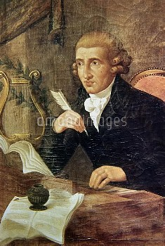 Joseph Haydn (1732-1809), Austrian composer. Anonymous portrait. Bologna, museo civico.    RVB-13231