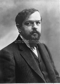 Claude Debussy (1862-1918), French composer. Photograph by Paul Nadar.