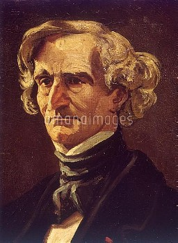 Hector Berlioz ( 1803-1869 ), French composer, oil painting by André Gosset de Guines (1840-1885), f