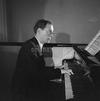 Olivier Messiaen (1908-1992), French composer and teacher. Paris, May 1937.