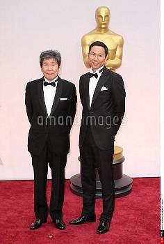 高畑勲 22 February 2015 - Hollywood, California - Isao Takahata, Yoshiaki Nishimura. 87th Annual Academ