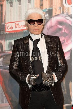 Karl Lagerfeld attends the 62nd Ball of the Rose at the Sporting Monte-Carlo in Monaco, MONACO-19/03