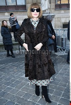 Anna Wintour, People, Street Style, Autumn Winter 2017 2018, Street Style during the Paris Menswear,