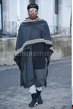 Jermane Britton, Y-3 Street Style, Autumn Winter 2017 2018, Street Style during the Paris Menswear,