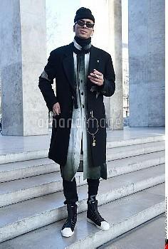 Patrick Mason, Y-3 Street Style, Autumn Winter 2017 2018, Street Style during the Paris Menswear, re