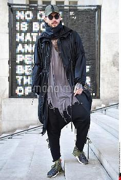 Storm Pedersen, Y-3 Street Style, Autumn Winter 2017 2018, Street Style during the Paris Menswear, r