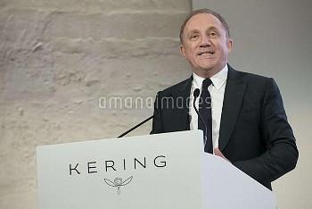 フランソワ・アンリ・ピノー=ケリングCEO Kering CEO Francois-Henri Pinault  during a press conference on the 2016 annua