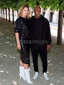 Doutzen Kroes and Sunnery James attend the Louis Vuitton Menswear Spring/Summer 2019 show as part of