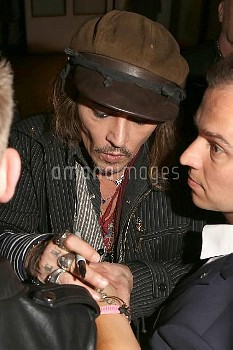 Johnny Depp arrives at the Charles Hotel after the Hollywood Vampires Concert at the Tollwood Festiv