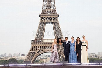 (L-R) Actresses Alix Benezech, Angela Bassett, Actor and Producer Tom Cruise, Actresses Michelle Mon