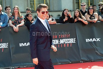 Actor Tom Cruise attends the Mission: Impossible - Fallout' Global Premiere in Paris on July 12, 201