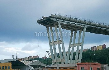 Italy Genoa Motorway Bridge Collapse//IPAPRESSITALY_IPA0111852/Credit:Riccardo Arata/FOTOGRAMMA/SIPA