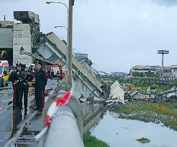 Italy Genoa Motorway Bridge Collapse//IPAPRESSITALY_IPA0111851/Credit:Riccardo Arata/FOTOGRAMMA/SIPA