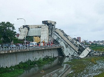 Italy Genoa Motorway Bridge Collapse//IPAPRESSITALY_IPA0111846/Credit:Riccardo Arata/FOTOGRAMMA/SIPA