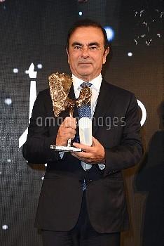 Carlos Ghosn reoit le Prix SCOPUS 2018 de l'Universite Hebraique de Jerusalem ( UHJ ) au Pavillon Ga