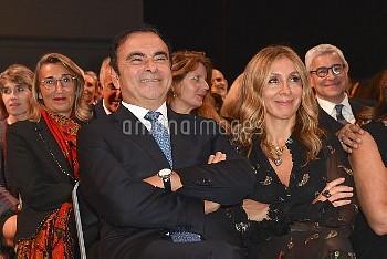 Carlos Ghosn et son epouse Carole photographies lors de la soiree de Gala du Prix SCOPUS 2018 de l'U