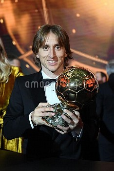Real Madrid's Luka Modric   Golden Ball (Ballon d'Or) award ceremony at the Grand Palais in Paris, F